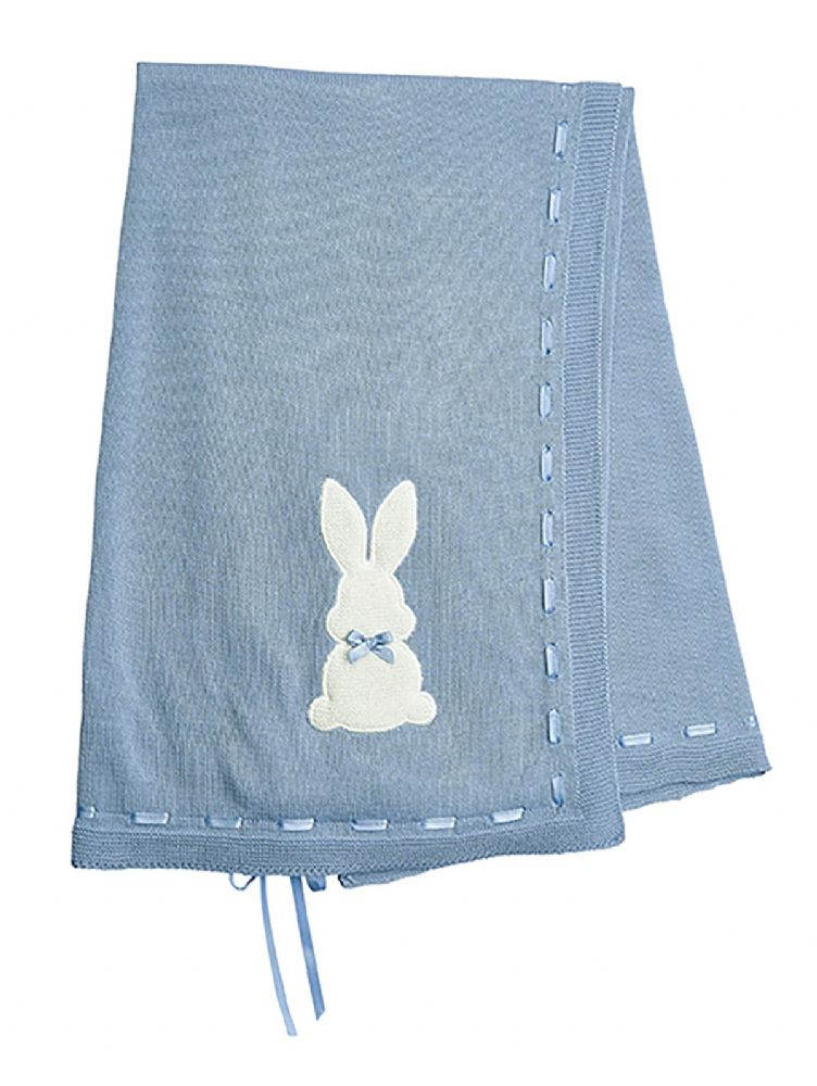 A3524B Bunny Shawl with Ribbon